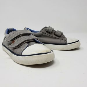 Tommy Hilfiger Boy sz 11 Gray Canvas Sneaker